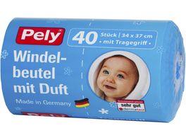 Pely Windelbeutel mit Tragegriff 40 Stueck