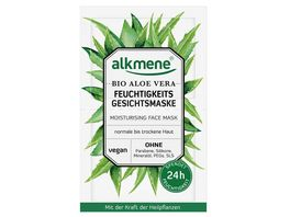alkmene Feuchtigkeits Gesichtsmaske Bio Aloe Vera