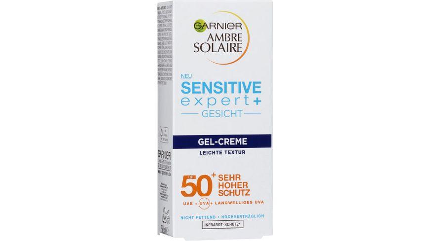 GARNIER AMBRE SOLAIRE Sensitive expert Gesicht Gel Creme LSF 50