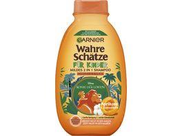 GARNIER Wahre Schaetze fuer Kinder Mildes Shampoo 2 in 1 Aprikose und Baumwollbluete