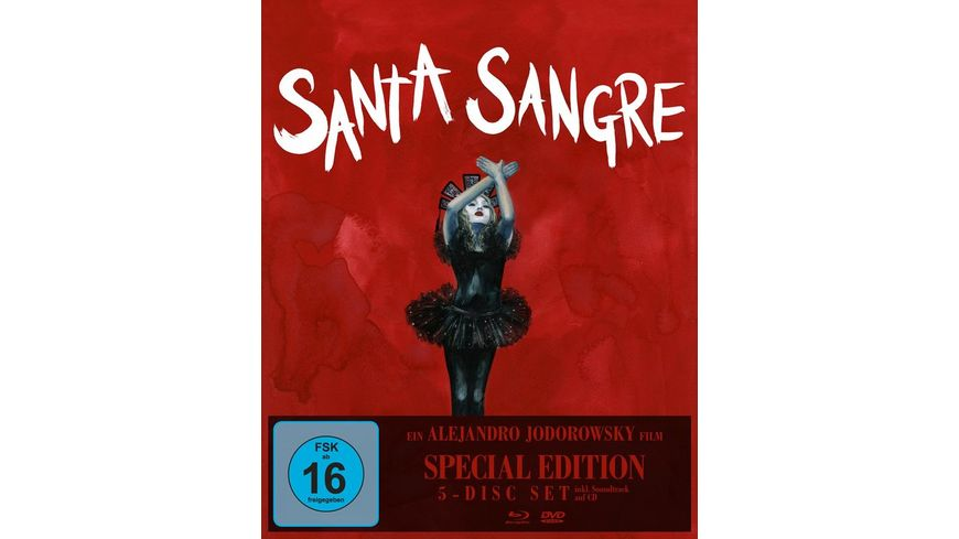 Santa Sangre Special Edition Alejandro Jodorowsky 1 Blu ray 3 DVDs 1 CD