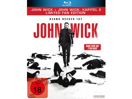 John Wick John Wick Kapitel 2 Limited Fan Edition 2 Blu rays in veredelter O Card