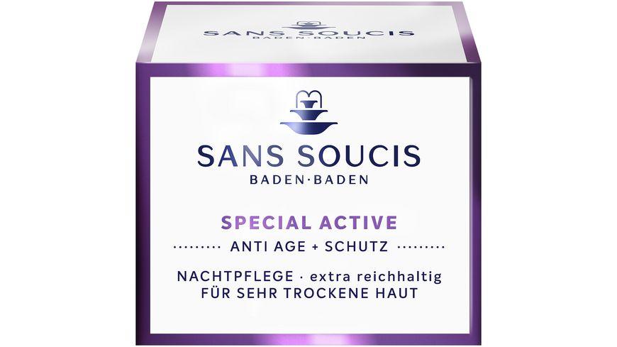 SANS SOUCIS Special Active Anti Age Schutz Nachtpflege extra rich