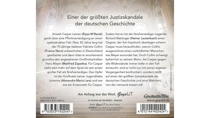 Der Fall Collini Das Original Hoerspiel Zum Kinofi