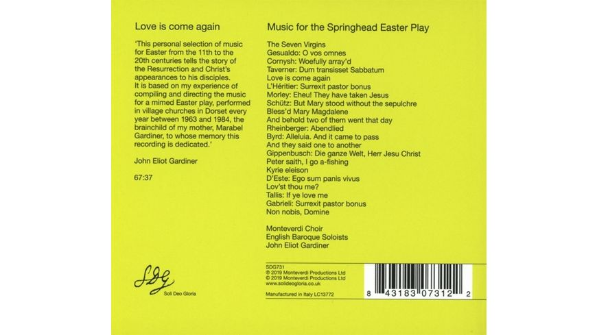 Love Is Come Again Easter Play