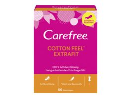 Carefree Cotton Extrafit 56 Stueck