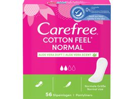 Carefree Cotton Feel Normal Aloe 56 Stueck