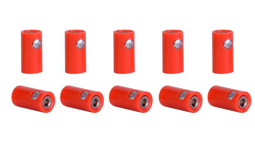 Viessmann 6880 Muffen rot 10 Stueck
