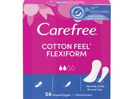 Carefree Cotton Flexiform 56 Stueck