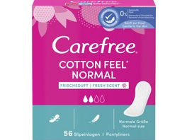 Carefree Cotton Feel Normal Frischeduft 56 Stueck