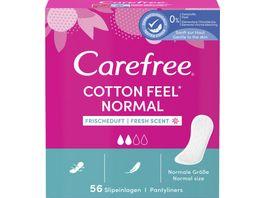 Carefree Cotton Frischeduft 56 Stueck