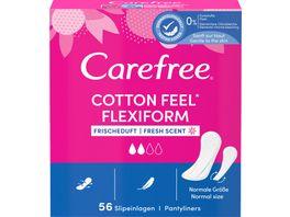 Carefree Cotton Flexiform Frischeduft 56 Stueck