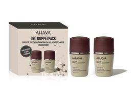 AHAVA Kit Mineral Deodorant Roll On for Men