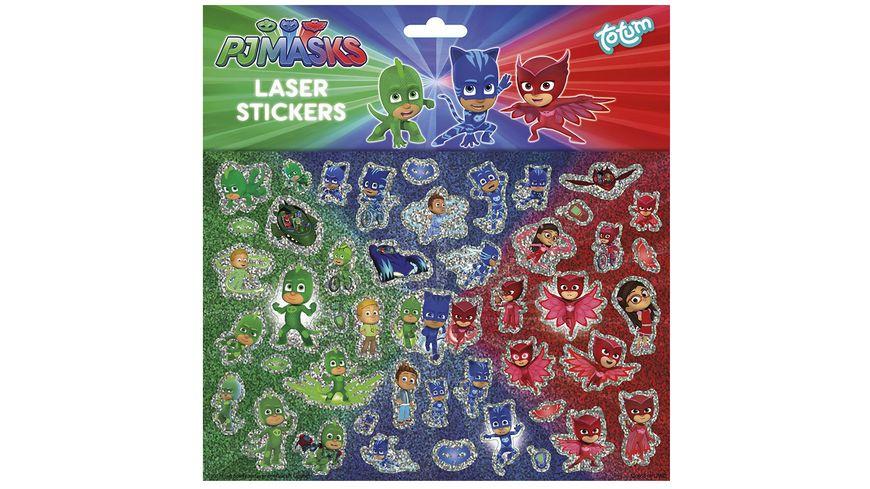 Totum PJ Masks Pyjamahelden Laserstickerbogen