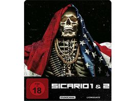 Sicario 1 2 Limited Steelbook Edition Blu ray