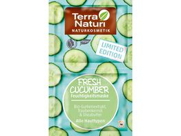 TERRA NATURI Maske Fresh Cucumber Bio Gurkenextrakt Traubenkernoel Sheabutter