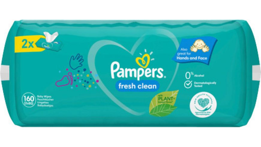Pampers Feuchttuecher Fresh Clean (2x80ST) = 160ST