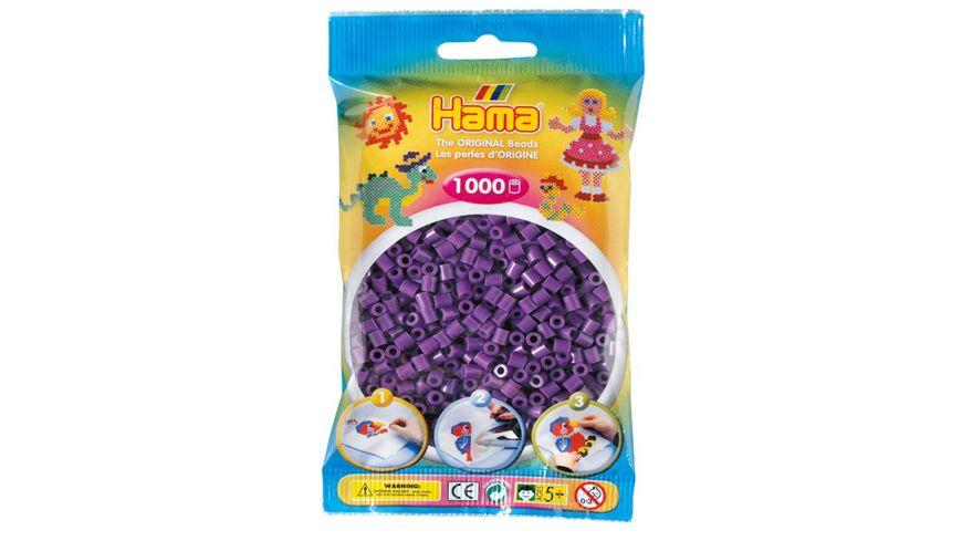 Hama Buegelperlen im Beutel ca 1000 Stueck lila