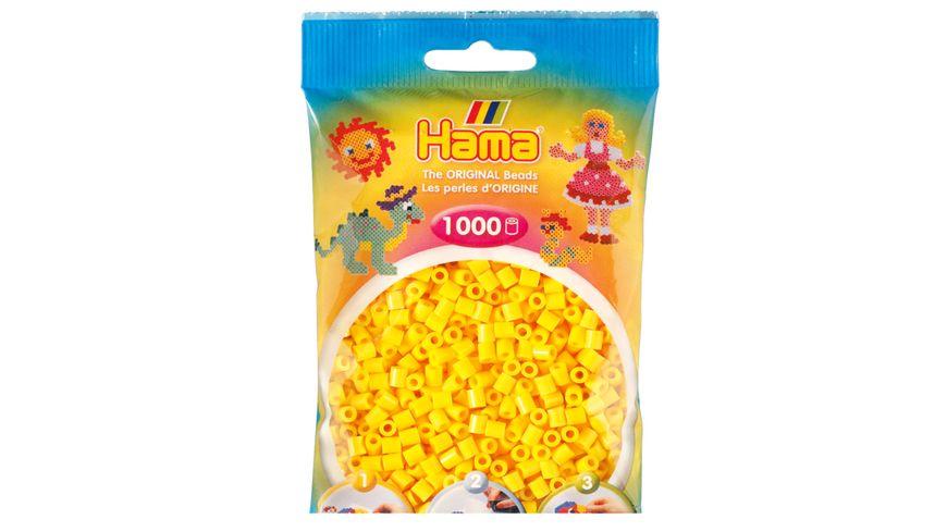 Hama - Bügelperlen im Beutel, ca 1000 Stück, gelb