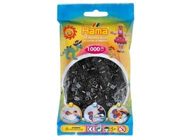 Hama Buegelperlen im Beutel ca 1000 Stueck schwarz