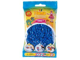 Hama Buegelperlen im Beutel ca 1000 Stueck hellblau