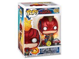 Funko POP Marvel Captain Marvel Bobble Head Figur