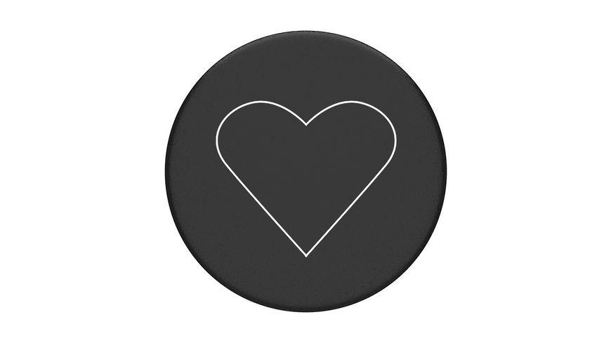 PopSockets PopGrip White Heart Black