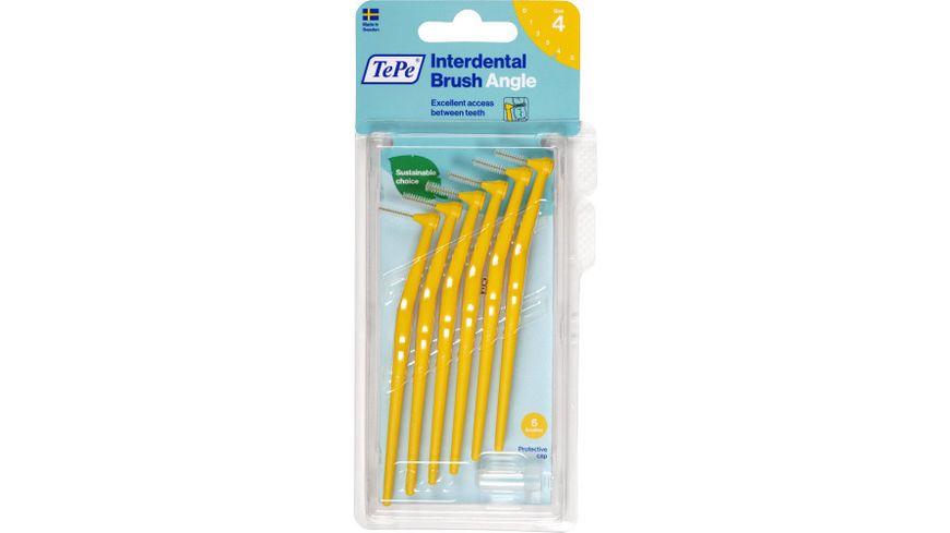 TePe Interdentalbuersten Angle Gelb 0 7mm