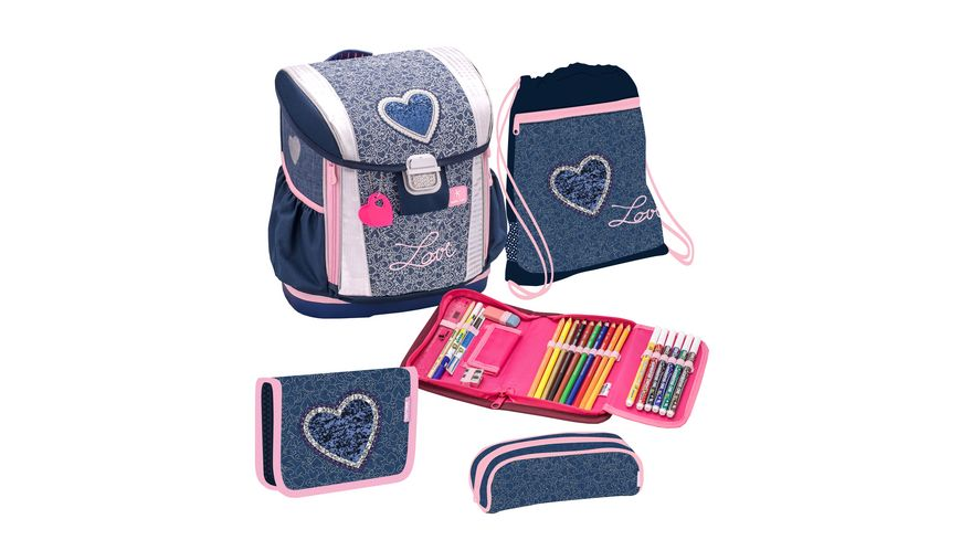 JOLLY BELMIL CUSTOMIZE ME Schulranzen Set 7teilig Love