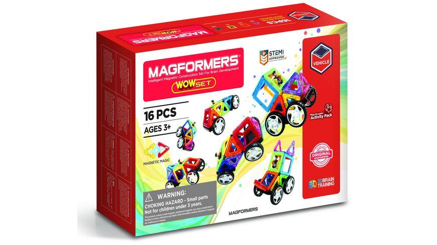 Magformers 274 14 Vehicle Line WOW Set 16 Teile
