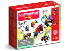 Magformers 274 14 Vehicle Line WOW Set 16 Teile