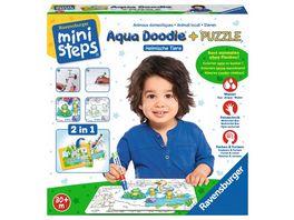 Ravensburger ministeps Aqua Doodle Puzzle Heimische Tiere