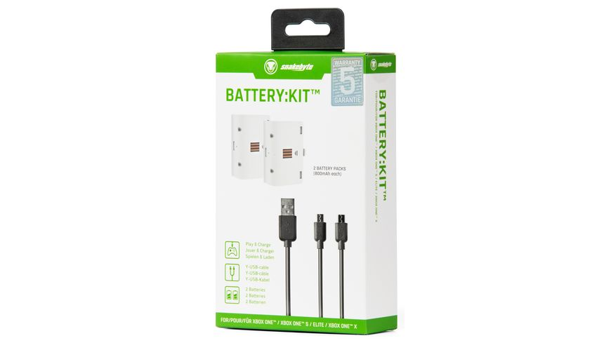 snakebyte Xbox One Battery Kit white