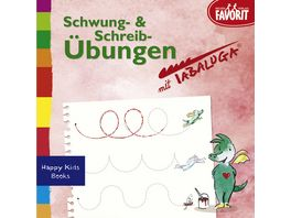 Schwung und Schreibuebungen mit Tabaluga Beschaeftigungsbuechlein aus der Serie Happy Kids Books