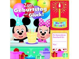 Disney Baby Mickey und Minnie Zum Geburtstag viel Glueck Geburtstags Soundbuch mit 1 Melodie und leuchtender Kerze