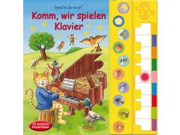 Komm wir spielen Klavier Liederbuch mit Klaviertastatur
