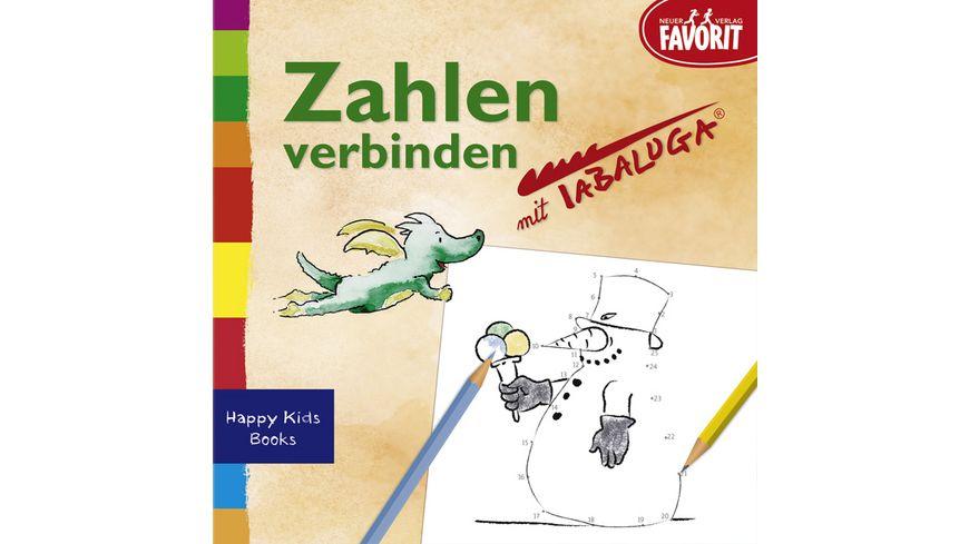 Zahlen verbinden mit Tabaluga Beschaeftigungsbuechlein aus der Serie Happy Kids Books