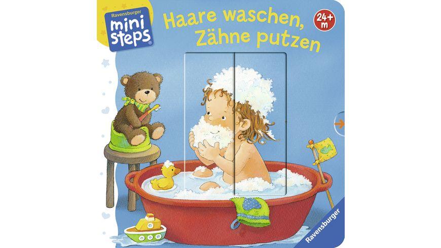 Haare waschen Zaehne putzen