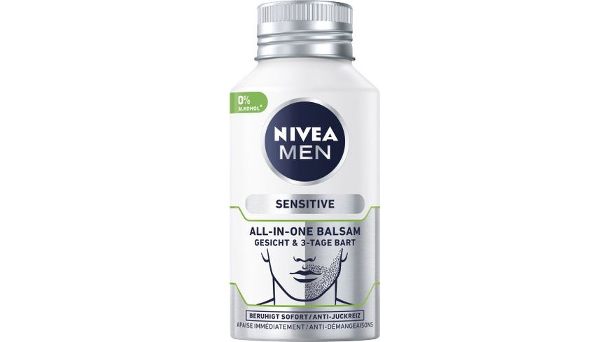 NIVEA MEN Sensitive All In One Balsam Gesicht 3 Tage Bart