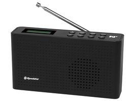Roadstar TRA 130D portables DAB UKW Radio Schwarz