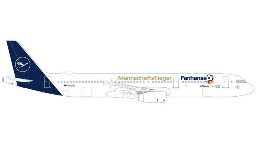 Herpa 531979 Wings Lufthansa Airbus A321 Fanhansa Mannschaftsflieger