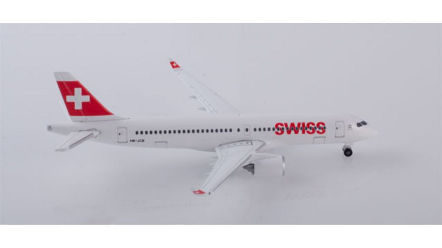 Herpa 532877 Wings Swiss International Air Lines Bombardier CS300 A220 300
