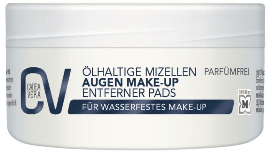 CV Augen Make Up Entferner Pads oelhaltig 50 Pads Mizellentechnologie