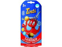 Tinti Zauberbad 3er Pack Badebaelle in rot blau gelb