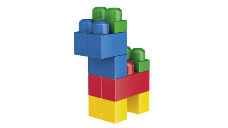 Fisher Price Mega Bloks First Builders Bausteinebeutel Large 80 Teile Grundfarben