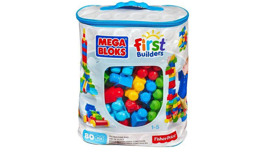 Fisher Price Mega Bloks First Builders Bausteinebeutel Large 80 Teile Grundfarben