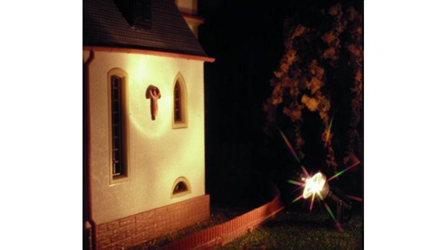 Viessmann 6330 H0 Flutlichtstrahler nieder LED weiss Hoehe 16 mm