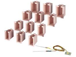 Viessmann 6005 Hausbeleuchtungs Startset 12 Boxen 4 verschiedene Groessen u 1 LED weiss