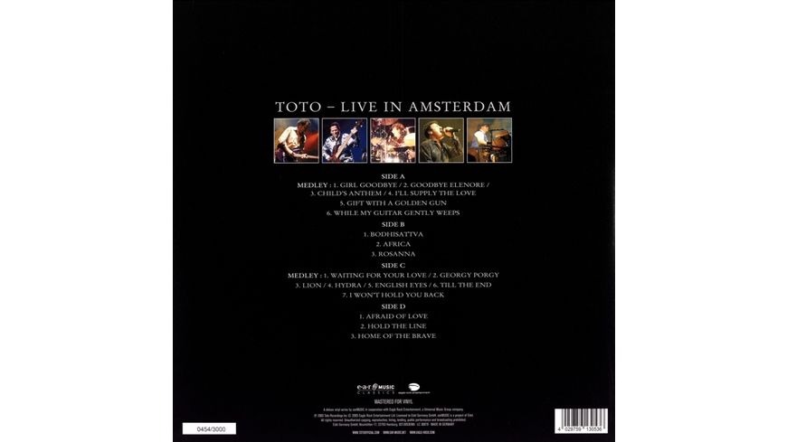 25th Anniversary Live In Amsterdam Ltd 2LP CD