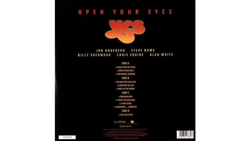 Open Your Eyes Limited 2LP